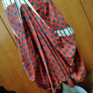 アンティカ(antiqua)のもじゃこさん専用アンティカ ドットとストライプ変形スカート(ロングスカート)