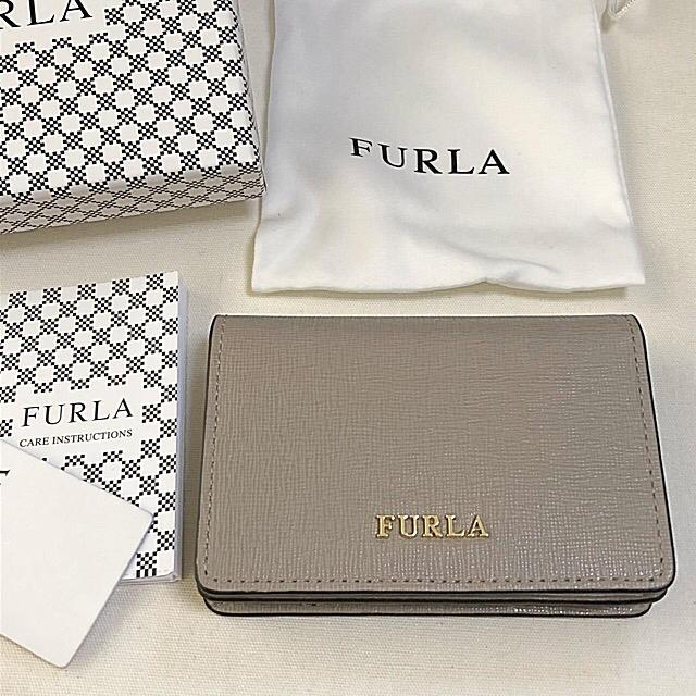 4750db018ac6 Furla(フルラ)の新品 フルラ 名刺入れ カードケース サッビアグレー レディースのファッション小物