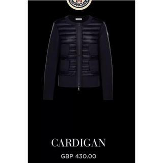 モンクレール(MONCLER)の新品 moncler 2018 CARDIGAN サイズM ブラック(ダウンジャケット)