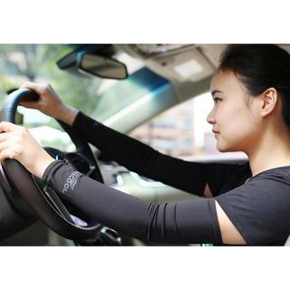 UVカットアームカバー お得 白黒の2セット 運転 スポーツ (手袋)