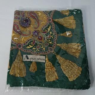 アクアスキュータム(AQUA SCUTUM)の本物Aquascutum アクアスキュータム イタリア製 絹100%スカーフ(バンダナ/スカーフ)