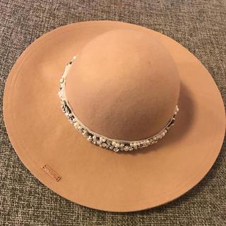 レディー(Rady)のRady レディー パールジュエリーウールハット ベージュ 女優帽(その他)
