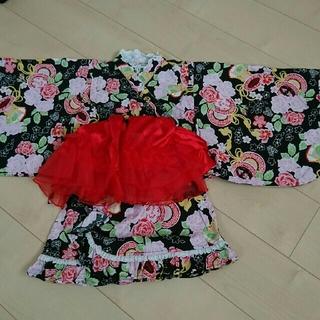 アンパサンド(ampersand)のAMPERSAND 浴衣(セパレート) 130 帯つき(甚平/浴衣)