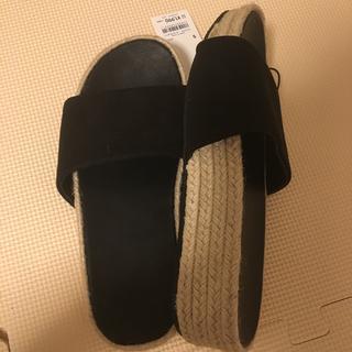 ジーユー(GU)の新品 ジュートプラットフォームサンダル S(サンダル)