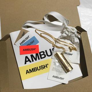アンブッシュ(AMBUSH)のステッカーショッパーシール付き AMBUSH ライタケース ネックレス (タバコグッズ)