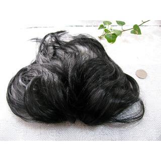 新品!頭頂部ボリューム付け毛ヘア自然色★耐熱洗える男女兼用長め(前髪ウィッグ)
