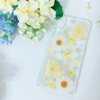 現品Sale 押し花ケース iPhoneX(スマホケース)