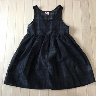 マーキーズ(MARKEY'S)の試着のみ♡新品♡CALMIA シースルー ワンピース 黒 95〜100サイズ(ワンピース)