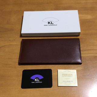 カールラガーフェルド(Karl Lagerfeld)のカールラガーフェルド 長財布 小銭入れ無し 茶色(財布)