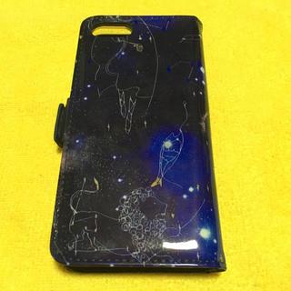 ツモリチサト(TSUMORI CHISATO)のツモリチサト iPhone6.6S用フラップケース 星空 エナメル×レザー (iPhoneケース)