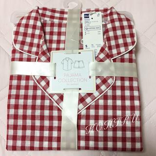 ジーユー(GU)のGU 赤ギンガムチェック Sサイズ パジャマ  新品タグ付き(パジャマ)