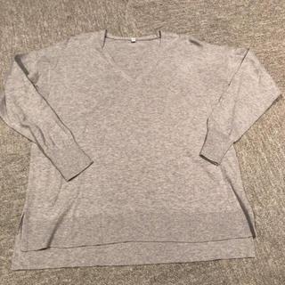 ムジルシリョウヒン(MUJI (無印良品))の◾️無印良品 シルクコットン Vネックセーター(ニット/セーター)