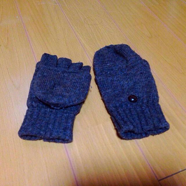 MUJI (無印良品)(ムジルシリョウヒン)の無印*ミトンにもなる半指手袋 レディースのファッション小物(手袋)の商品写真