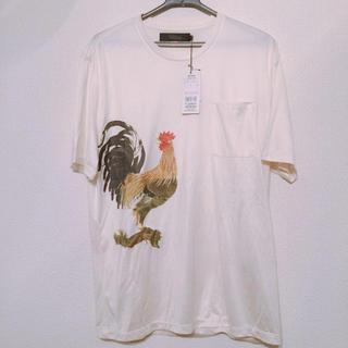 アルティザン(ARTISAN)のアルチザン 伊藤若冲 コラボ Tシャツ 鶏 m コムサメン 定価2.8万 最高級(Tシャツ/カットソー(半袖/袖なし))