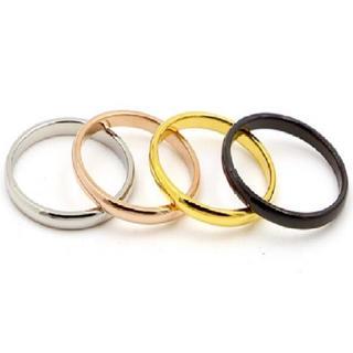 サイズ充実 1号~ チタンステンレス ピンキーリング関節リング (リング(指輪))
