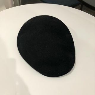 カシラ(CA4LA)のハンチング帽 ca4la カシラ 黒 ブラック(ハンチング/ベレー帽)