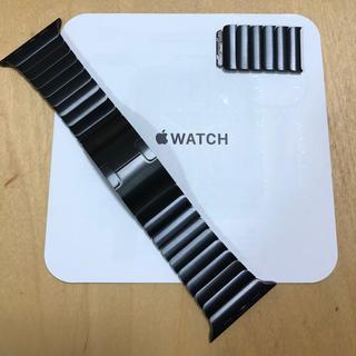 Apple Watch - 純正美品 apple watch リンクブレスレット 42mm スペースブラック