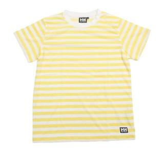 ヘリーハンセン(HELLY HANSEN)の新品!150cmH/Hヘリーハンセン黄ボーダーTシャツ(その他)