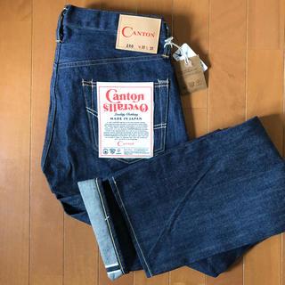 キャントン(Canton)のCANTON OVERALLS LOT.100 W30 リジット 白耳 日本製(デニム/ジーンズ)