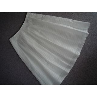 アマカ(AMACA)の新品 AMACA アマカ チェックレース上品なスカート 40 白 24840円(ひざ丈スカート)