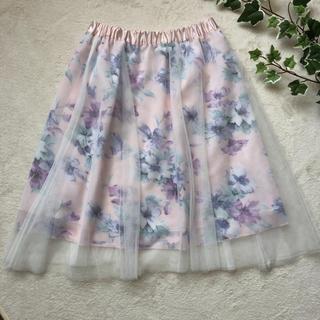 シマムラ(しまむら)のしまむら 花柄チュールスカート(ひざ丈スカート)