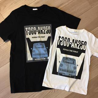 ジーユー(GU)の親子お揃いTシャツ♪ メンズS &キッズ110サイズ(Tシャツ/カットソー)