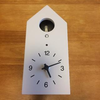 MUJI (無印良品) - 無印良品 鳩時計 掛時計 置時計 ホワイト