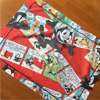 フェリックス 枕カバー 赤 ビンテージ(シーツ/カバー)