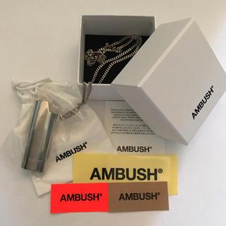アンブッシュ(AMBUSH)の箱&ステッカー&シール付!送料込  AMBUSH ライタケース ネックレス(ネックレス)