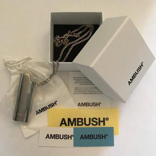 アンブッシュ(AMBUSH)の箱&ステッカー&シール付!送料込  ②AMBUSH ライタケース ネックレス(ネックレス)