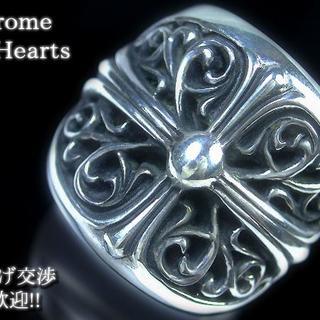 クロムハーツ(Chrome Hearts)の【kv】p1019 即決★宝石の島★クロムハーツ クラシックオーバルクロスリング(リング(指輪))