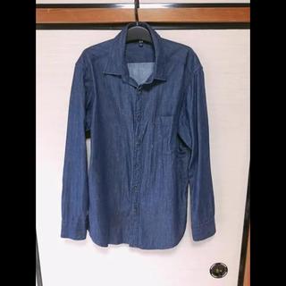 ユニクロ(UNIQLO)のデニムシャツ(Tシャツ/カットソー(七分/長袖))