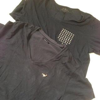 ザラ(ZARA)のSALE  ザラ ブラックTシャツ セット(Tシャツ/カットソー(半袖/袖なし))