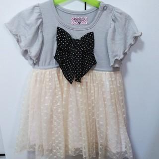 ニシマツヤ(西松屋)の子ども服 ワンピース チュール付き 80(ワンピース)
