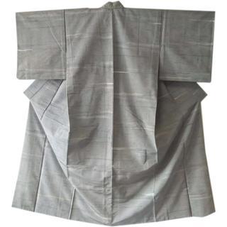 3509 小紋着物 バチ衿 地模様 リメイク素材にも(着物)