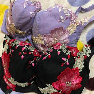 まつ様専用 ヒミコhimico美流れ花刺繍(ブラ)