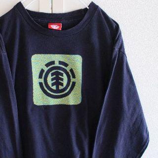 エレメント(ELEMENT)のUS エレメント navy ロング Tシャツ(Tシャツ/カットソー(七分/長袖))