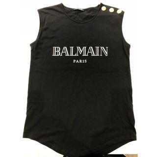 BALMAN  ノースリーブ カットソー L 黒