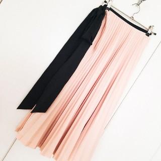 ルシェルブルー(LE CIEL BLEU)のLE CIEL BLUE ピンクベージュ巻きスカート(ひざ丈スカート)