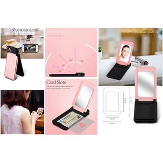 [新品・最安価格・送料無料]鏡、カード入れが付いたお洒落なiphoneケース(iPhoneケース)