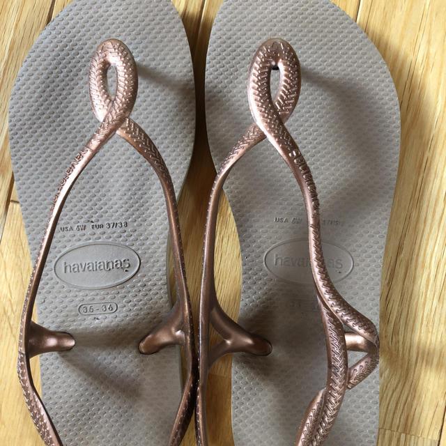 havaianas(ハワイアナス)のハワイアナスビーチサンダルブラウン6wレディース レディースの靴/シューズ(ビーチサンダル)の商品写真