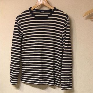 ユニクロ(UNIQLO)のUNIQLO ボーダーロンT メンズM(Tシャツ/カットソー(七分/長袖))