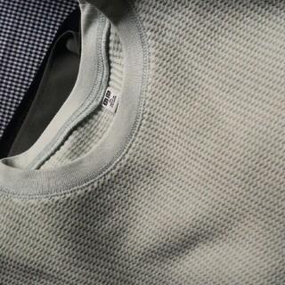 ユニクロ(UNIQLO)のワッフルクルーネックシャツ(五分袖)(Tシャツ(半袖/袖なし))