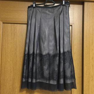 ワコール(Wacoal)のレース スカート ワコール  トリュフ スカート  ウエスト64〜70(ひざ丈スカート)
