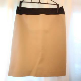 デミルクスビームス(Demi-Luxe BEAMS)のDemi-Luxe BEAMS/ベージュタイトスカート(ひざ丈スカート)