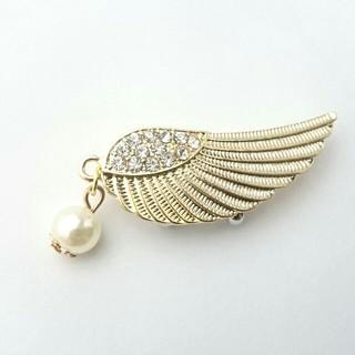 天使の羽の帯留め
