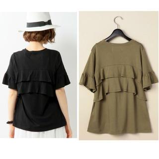 カオン(Kaon)のkaon UNITED ARROWS 限定 バックフリル Tシャツ オリーブ(Tシャツ(半袖/袖なし))