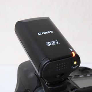 キヤノン(Canon)の【美品】Canon スピードライト90EX (ストロボ/照明)