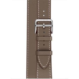 アップルウォッチ(Apple Watch)の【新品同様】 アップルウォッチ エルメス38mm ドゥブルトゥール エトゥープ (腕時計)
