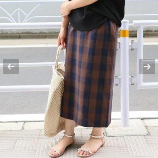 イエナ(IENA)の新品タグ付き ブロックチェックタイトスカート◆(ひざ丈スカート)
